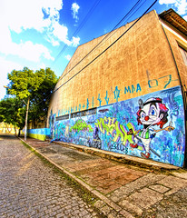 Graffiti (Rua Dlcio Martins Costa) | Vertorama (Omar Junior) Tags: street blue sky urban costa streetart color building muro verde green art texture textura colors rio monster azul wall buildings cores geotagged graffiti grande mural colorful paint do arte pentax d painted graf murals portoalegre style spray porto junior spraypaint rua graffito graff arvore alegre scratched omar mapping martins ist poa rs cor ceu tone riograndedosul hdr sul parede pentaxistd mostro mapped grafite marked rgs photomatix grf scrawled graffitibrasileiro dlcio graffitifotos geo:lat=30040232 geo:lon=51226915