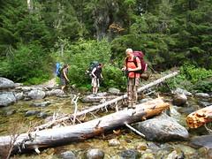 Allison, Bob and Caleb, Long Canyon Trail, Selkirk Mountains, North Idaho.