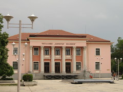 """. ""  2009 . Cultural club Karnobat Bulgaria (Balkanton) Tags: building architecture club square communism bulgaria socialist cultural socialism neoclassical realism stalinist"