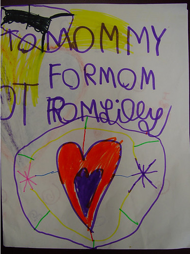 five year old's i love mommy card width=
