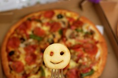 Day 234 - Take-away Pizza and Potato Smileys