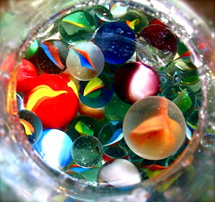 Colorful Marbles (Kara Allyson) Tags: glass colorful balls marbles gestalt similarity