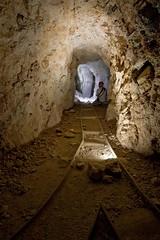 The Underground Railroad (Larry Zimmer Photography) Tags: old arizona abandoned underground mine grandcanyon flash tracks tunnel mining copper ore relics larryzimmer