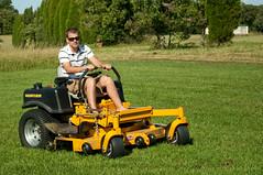 Go. Go. Go Chris. (tombothetominator) Tags: chris tractor oklahoma nikon ar lawn arkansas hustler mower fortsmith ok muldrow d90 zeroturn