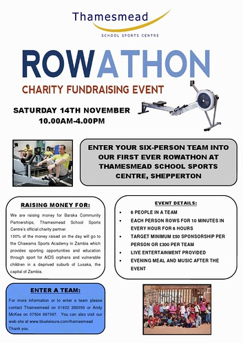 Rowathon Charity Fundraising Event