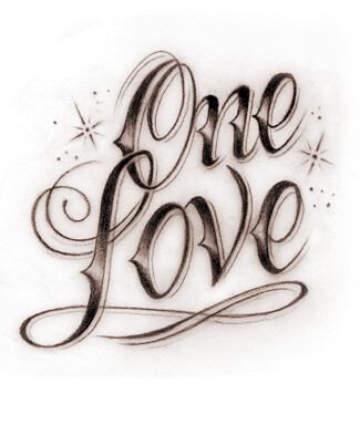 Love Tattoo Designs on One Love One Heart Let S Get Together And Feeeeel Ariiiiight