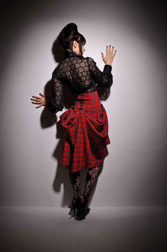 Steampunk plaid bustier skirt by PinarEris