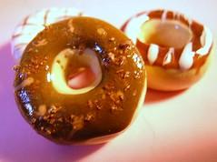 chocolate donut (xtine.bijoux) Tags: cookies cake strawberry sweet chocolate polymerclay fimo donut kawaii waffle gateaux fraise chocolat chantilly sucre kato beignets macaron premo gaufre miniaturegato102009