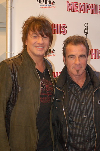 Richie Sambora and Tico Torres at the premiere of Memphis the Musical