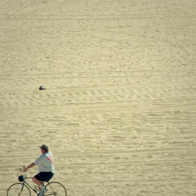 On the Sand - Biker