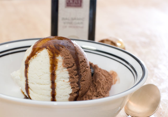 ice cream with 8-year balsamic
