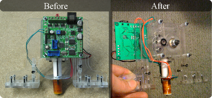A Before & After View of my MakerBot/RepRap Mod