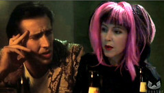 "Nic Cage and me in a scene from ""Wild at Heart"""