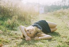 (yyellowbird) Tags: ohio sunlight house selfportrait abandoned film girl cari