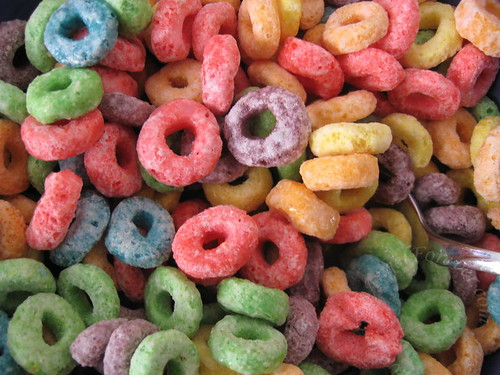 Up close look at Froot Loops