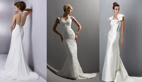 Trend wedding gown with an elegant model.