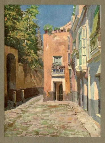011- Un rincon de Sevilla-An artista in Spain 1914- Michael Arthur C.