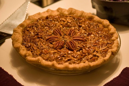 my mom's bourbon pecan pie