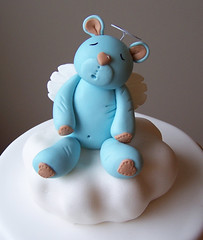 Bear on a cloud topper (cakespace - Beth (Chantilly Cake Designs)) Tags: bear blue brown toronto cake angel beth baptism polkadots bow designs christening mississauga fondant baptismcake religiouscake firstcommunioncake mississaugacake customtopperstripes hanmouldedtopper cakespacebeth braziliancakestoronto cakechantilly