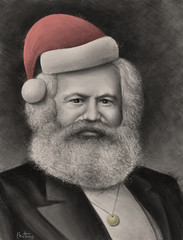 Karl Marx - Merry Christmas (Ben Heine) Tags: wallpaper portrait karlmarx hat smart germany poster fun democracy funny russia historian drawing politics capital davinci bank oldman evolution philosophy brain medal class smoking communist communism digitalpainting intelligence german revolution chapeau caricature fatherchristmas writer tribute bolsheviks capitalism left intellectual merrychristmas makingof tutorial activist socialism economist sovietunion santaklaus manifesto philosopher gauche realism stepbystep workingclass highres urss fullquality bourgeoisie politicalart socialscience bankers prenoel 25thdecember dictature financialcrisis mdaille benheine peinturenumrique karlheinrichmarx dictatorshipoftheproletariat