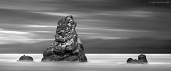 Outcrop (Gary Newman) Tags: uk longexposure sea england bw outcrop seascape landscapes rocks pano dorset mupe nd110 d700