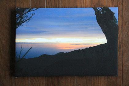 自作のキャンバス、屋久島の朝焼け|EPSON PX-5002