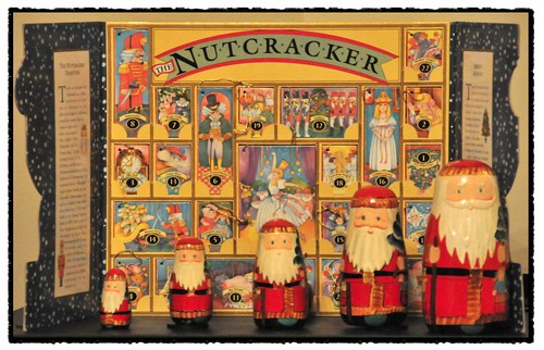 Nutcracker advent calendar and 5 santas