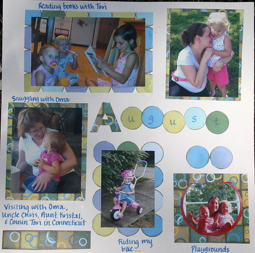 August scrapbook page
