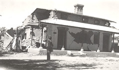the ruins of the Bank of the Khan of Kalat in the town of Mastung south of Quetta shortly after the Quetta City earthquake of May 31st, 1935. Kalat was a Princely State (myprivatecollection6) Tags: earthquake bank khan 1935 kalat quetta mastung