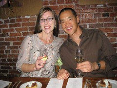 Steve Loh and girlfriend Leah at Le Pigeon, finally getting to feast
