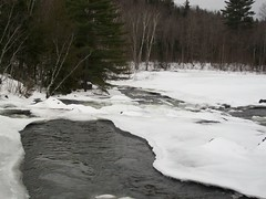 Overlooking Big Wilson falls, from the Elliotsville bridge (ems18) Tags: winter snow ice maine piscataquiscounty elliotsville wilsonstream bigwilsonfalls