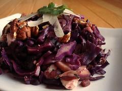 CSA Winter 5: Tassajara Warm Red Cabbage Salad