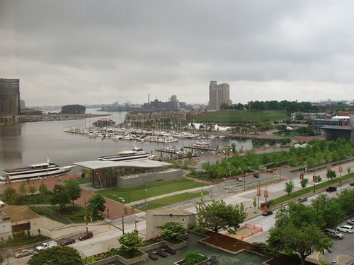 View from the Hyatt, Baltimore MD, May 2011 by suzipaw