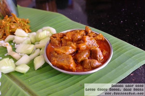 Banana leaf rice- Lotus Curry House, Aman Suria-03