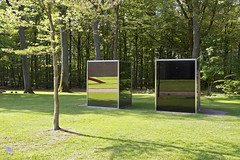 Art vs. Nature | The Pavilions (Bart van Damme) Tags: trees windows sculpture reflection art netherlands glass grass museum architecture stairs reflections painting reflecting nationalpark shadows modernart architect badge granite sculpturegarden shrubs veluwe shrubbery otterlo distracted distractions nationalparkdehogeveluwe sociallandscape wimquist henryvandevelde kröllermullermuseum artvsnature quistwintermansarchitects bartvandammephotography henryvandeveldearchitects emailbagtvandammegmailcom kröllermuller studiovandammeartphotography landscapetypology