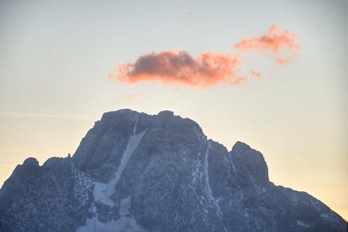 Pink Fluff on Mount Moran
