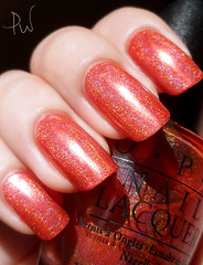 OPI Coral Reef (prwnkl) Tags: coral blacklabel holographic  opi   hologrfico linearfine