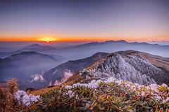 合歡山 (王宇信) Tags: taiwan nantou sunset moutain cloud 台灣 南投 合歡山 夕陽 日落 雪 sony a6000 snow 雲 e16 ecu1