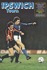 Ipswich Town vs Manchester United - 1982 - Cover Page (The Sky Strikers) Tags: ipswich town manchester united portman road football league division one official match day magazine 30p