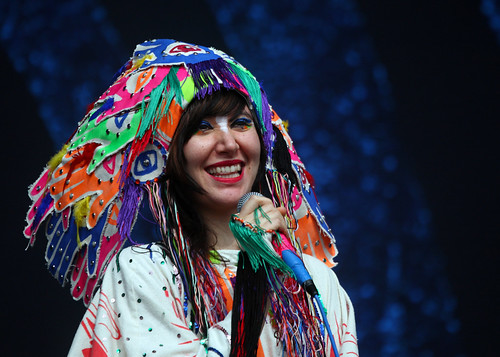 Glastonbury Highlights - Karen O - Yeah Yeah Yeahs by Laughing Man Images.