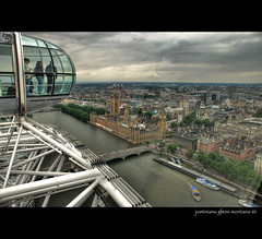 Flight on the London Eye (j glenn montano 3) Tags: house london eye thames river big ben glenn parliament british airways hdr montano justiniano aplusphoto