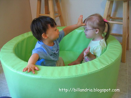Matthew & Braska in the ball pool