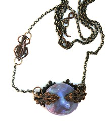 Vintage jewellery with faux labradorite