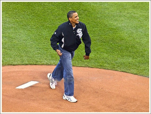 Obama Throws First Pitch At All Star Game
