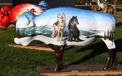 "Part of the ""Where the Painted Buffalo Roam"" exhibit, West Yellowstone, Montana (IMG_1565a) (Alaskan Dude) Tags: travel art buffalo montana wildlife westyellowstone paintedbuffalo wherethepaintedbuffaloroam"