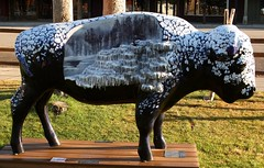 "Part of the ""Where the Painted Buffalo Roam"" exhibit, West Yellowstone, Montana (IMG_1579a) (Alaskan Dude) Tags: travel art buffalo montana wildlife westyellowstone paintedbuffalo wherethepaintedbuffaloroam"