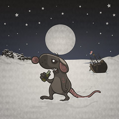 Moon & Antartica by Modest Mouse - Cookie version. (Simon Cook) Tags: moon beer illustration cookie album cover antartica becks modestmouse musicinspiredart