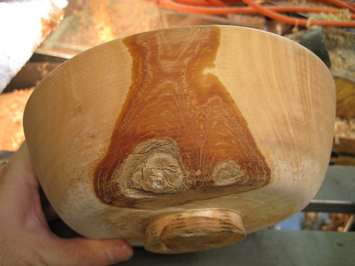 Jacaranda bowl rough with bark inclusions