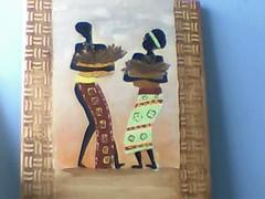 Imagem 196 (A cor do acaso) Tags: ceramica cores artesanato jardim decora cor telas acrilico telha africanas senegalesa senegalesas