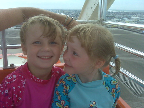 Paige and Leda on Ferris Wheel in Wildwood